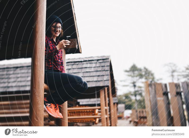 Roadtrip West Coast USA (58) feminin Junge Frau Jugendliche Erwachsene 1 Mensch 18-30 Jahre 30-45 Jahre Abenteuer Kommunizieren Reisefotografie