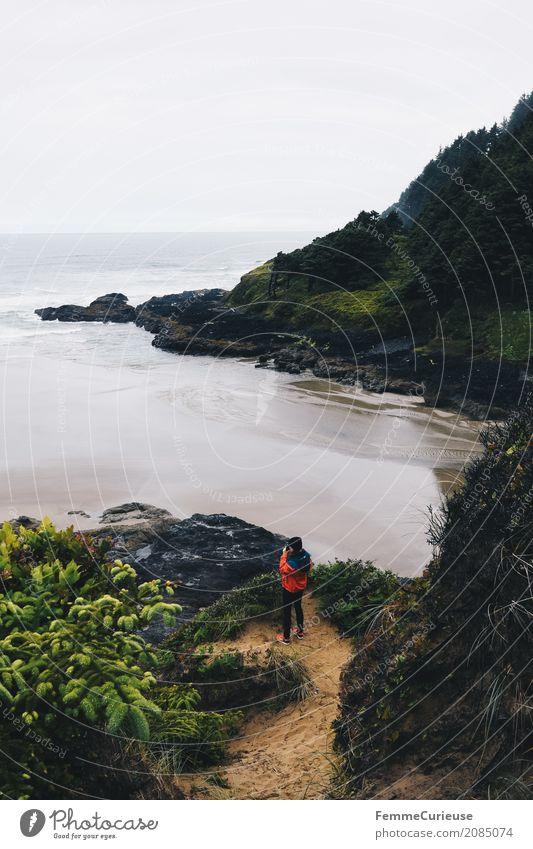 Roadtrip West Coast USA (13) feminin Junge Frau Jugendliche Erwachsene Mensch 18-30 Jahre 30-45 Jahre Abenteuer Oregon Westküste Strand Meer Urlaubsfoto