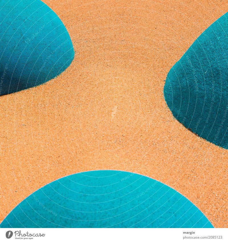 AST 10 | 3 Wege Kreuzung blau Berge u. Gebirge Straße Wege & Pfade Sand orange Design Linie Verkehr Perspektive planen Hügel Bodenbelag Güterverkehr & Logistik