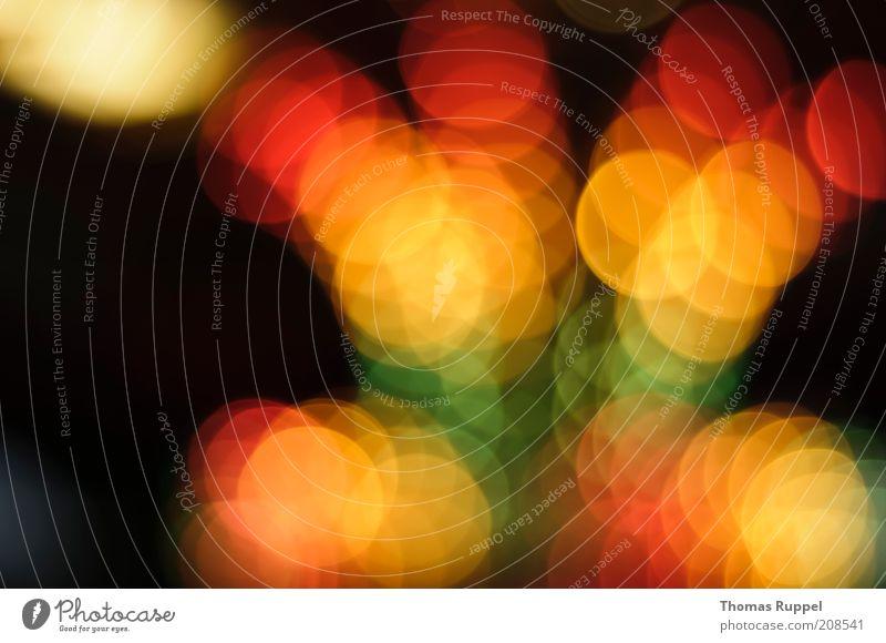 gelb, orange, rot, grün grün rot Freude gelb Lampe dunkel Glück hell Hintergrundbild Kreis Fröhlichkeit leuchten hängen Glühbirne glühen