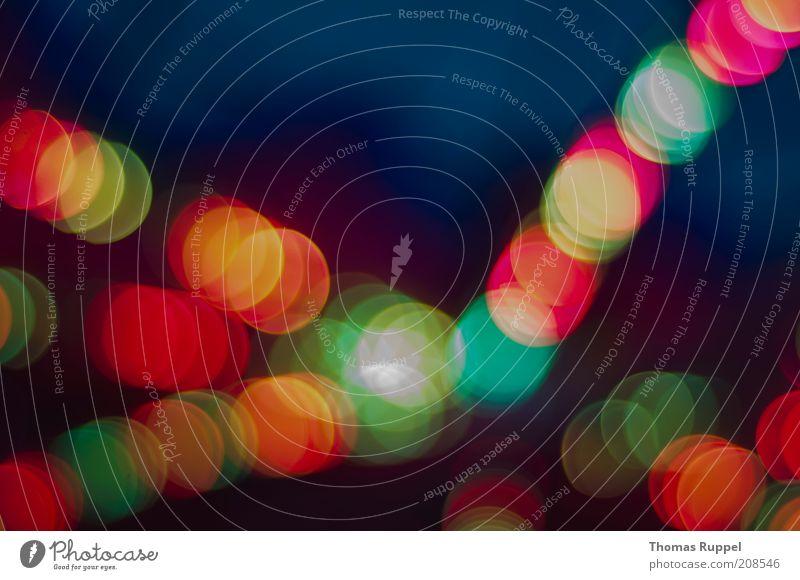weiß, gelb, orange, rot, grün Lichterscheinung Lichterkette glühen Lampe Lampenlicht Energie Hintergrundbild leuchten dunkel hell schön mehrfarbig Farbfoto
