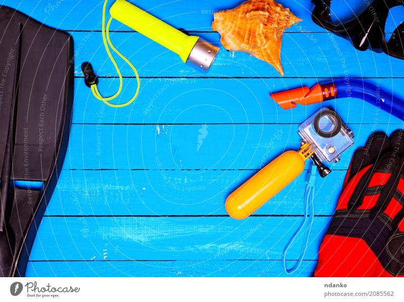 Gegenstände für das Unterwassertauchen Freizeit & Hobby Ferien & Urlaub & Reisen Sommer Wassersport Fotokamera Handschuhe Tube Kunststoff blau gelb Kreativität
