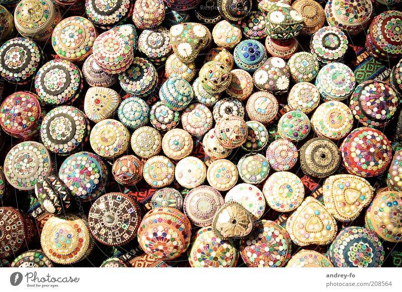 Schmuckdosen schön Kunst klein rund Kitsch Dekoration & Verzierung Kultur niedlich mehrfarbig viele Perle Dose Schalen & Schüsseln Türkei Anhäufung