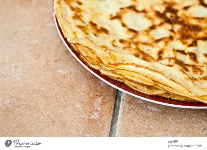 frühstück für alle Ernährung Boden Fliesen u. Kacheln lecker Frühstück Teller Dessert Fingerfood Kaffeetrinken Pfannkuchen Crêpe