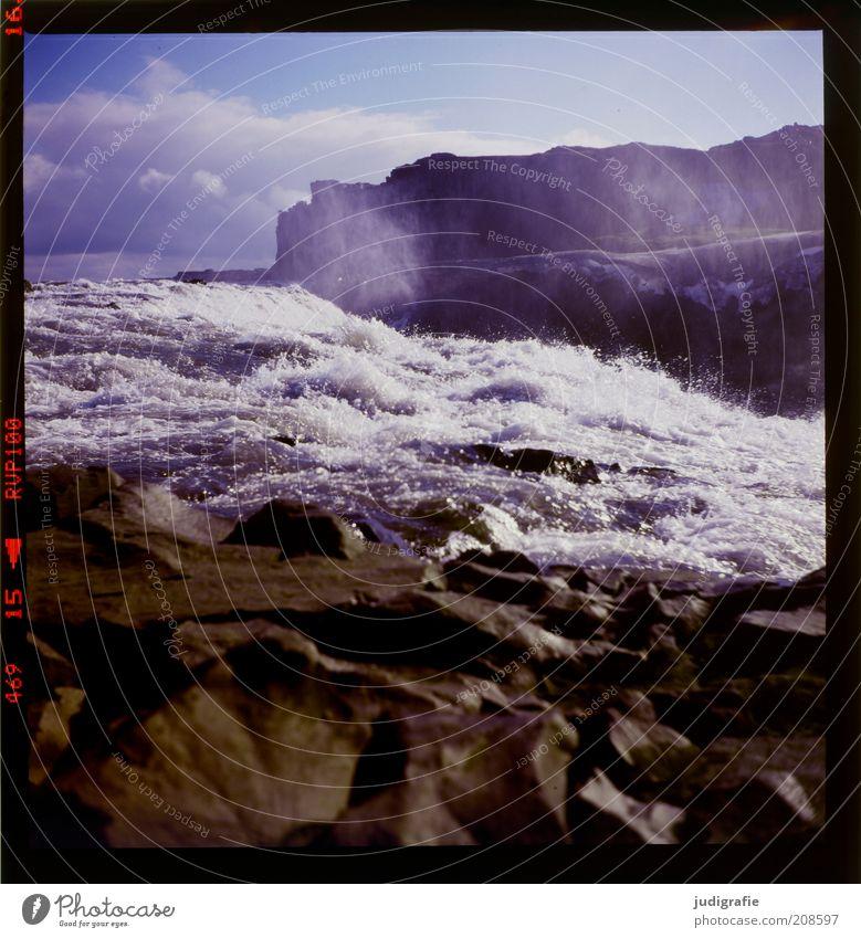 Island Natur Wasser Himmel Einsamkeit dunkel kalt Berge u. Gebirge Landschaft Stimmung Umwelt Wassertropfen nass Wandel & Veränderung einzigartig wild