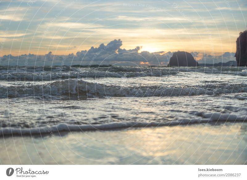 Sunset at Charlies beach, Koh Mook, Thailand Ferien & Urlaub & Reisen Sommer Strand Natur Freude Glück Romantik Sonnenuntergang ocean cloudscape Koh Muk tourism