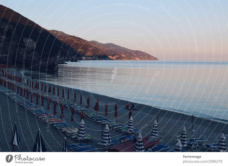 Cinque Terre XIII - Monterosso Ferien & Urlaub & Reisen Sommer Landschaft Meer Erholung ruhig Strand Berge u. Gebirge Reisefotografie Tourismus Stimmung rosa