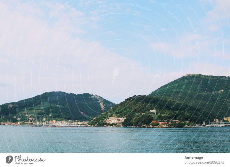 Cinque Terre XV Umwelt Natur Landschaft Sommer Schönes Wetter Hügel Berge u. Gebirge Küste Meer schön Bootsfahrt Italien Italienisch Ligurien mediterran Idylle