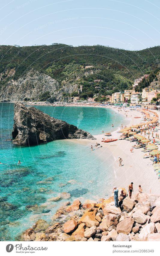 Cinque Terre XX Natur Landschaft Schwimmen & Baden Strand Monterosso Italien Ligurien Mittelmeer türkis Klarheit Reisefotografie Sommer Sommerurlaub sommerlich