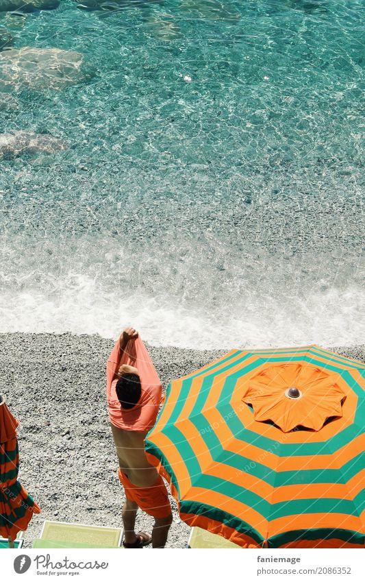 Cinque Terre XXII Mensch Ferien & Urlaub & Reisen Mann Sommer Wasser Meer Erholung Strand Reisefotografie Wärme Lifestyle Schwimmen & Baden Freizeit & Hobby maskulin Körper Wellen