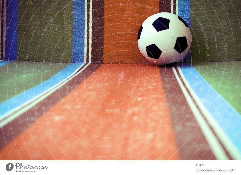 Ballermann Sommer Sport Linie Freizeit & Hobby Fußball Design Lifestyle Streifen rund retro Kultur Ball Dinge Spielzeug Ballsport Muster