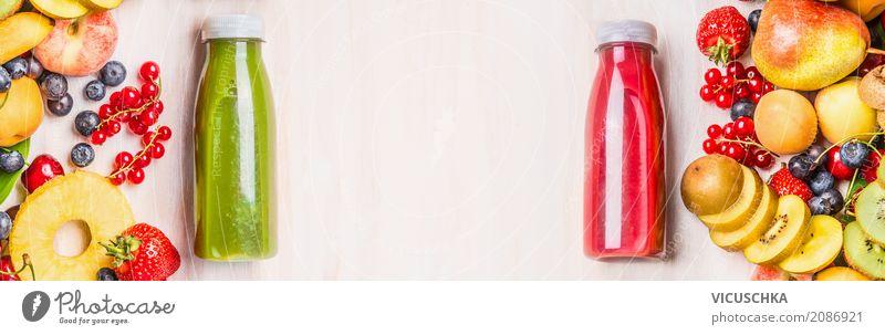 Sommer Früchte und Beeren Getränke. Lebensmittel Frucht Saft Flasche Lifestyle Design Gesundheit Gesunde Ernährung Fitness gelb Stil Hintergrundbild Milchshake