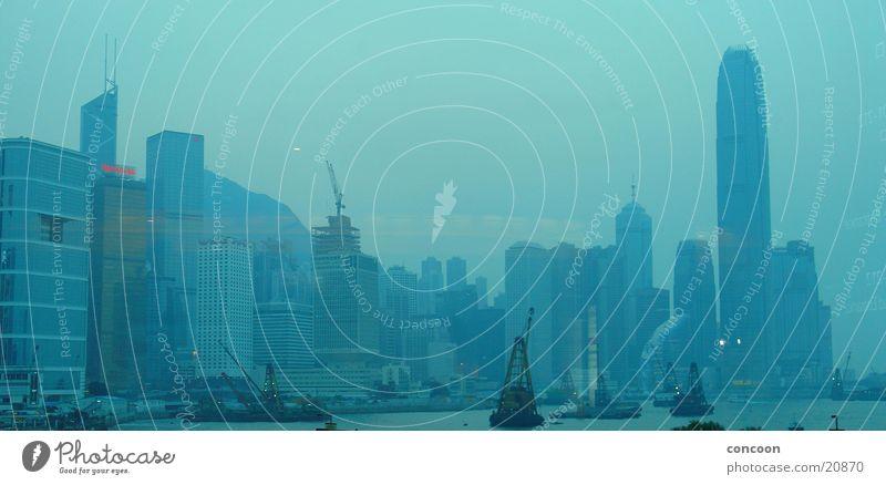 Blue Hong Kong Hochhaus China Skyline Hongkong Asien Los Angeles