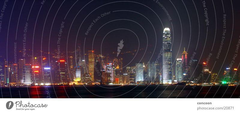 Hong Kong Skyline II (Panorama) Stadt Farbe glänzend Erfolg Hochhaus Energiewirtschaft China Hongkong Lichtermeer