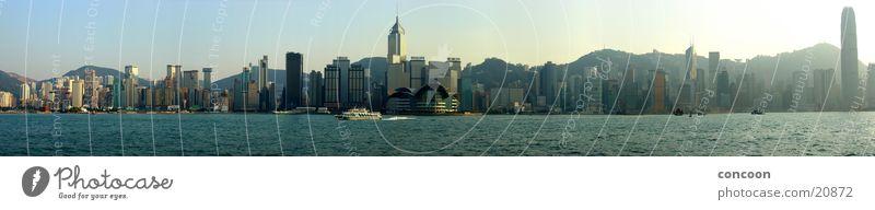 Hong Kong Skyline Panorama Sonne Glas Erfolg Hochhaus modern Macht China Stahl Hongkong Fähre gigantisch Kowloon