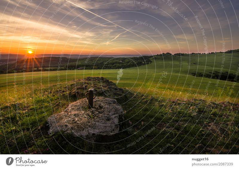 auf dem Dörnberg in Nordhessen 9 Himmel Natur Ferien & Urlaub & Reisen Pflanze blau Sommer grün weiß Sonne Landschaft Ferne Wald Berge u. Gebirge schwarz Umwelt