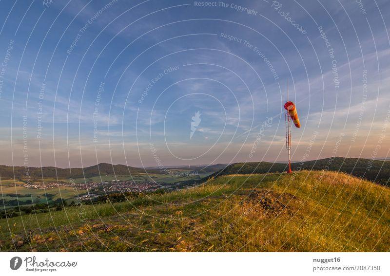 auf dem Dörnberg in Nordhessen 2 Himmel Natur Ferien & Urlaub & Reisen Pflanze blau Sommer grün weiß Sonne Landschaft Wolken Ferne Berge u. Gebirge Umwelt
