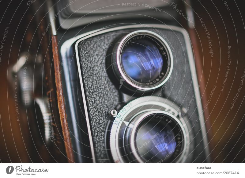 augen alt retro Fotokamera analog Linse Fotografieren Erbe gebraucht Rarität