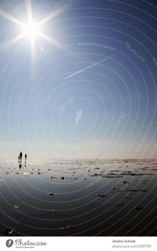 Planet 53.889419 / 8.652141 Natur Wasser weiß Sonne Meer blau Sommer Strand Ferien & Urlaub & Reisen ruhig schwarz träumen Landschaft Küste wandern Umwelt