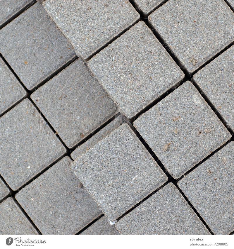 cube Pflastersteine pflastern Stein eckig grau Symmetrie Geometrie Würfel Hexaeder Strukturen & Formen Stapel geordnet Fuge Rechteck bauen Material Ordnung