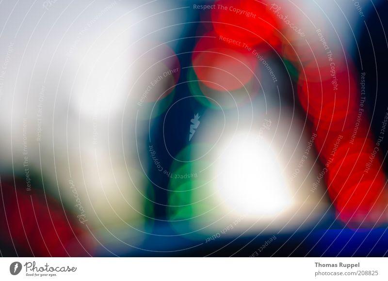 hell, rot, blau Lampe Lampenlicht Hintergrundbild Kreis kreisrund Bogen leuchten Freude Glück Fröhlichkeit Farbfoto mehrfarbig Außenaufnahme abstrakt Muster