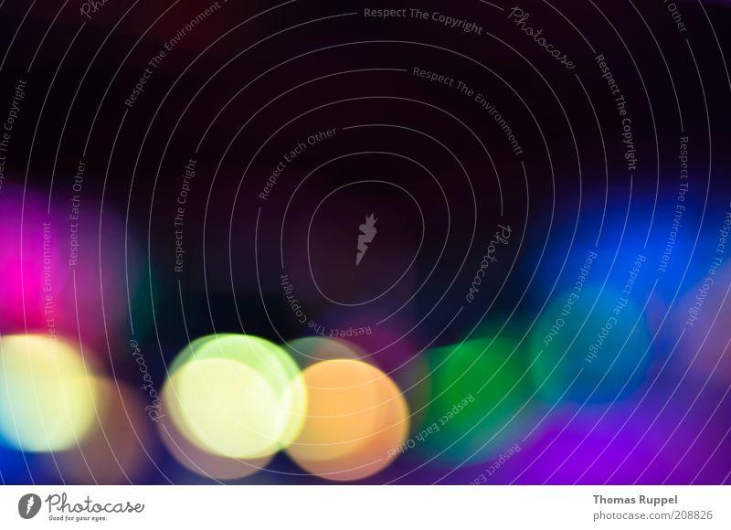 gelb, orange, grün, blau, lila Lampe Hintergrundbild glühen Beleuchtung mehrfarbig leuchten dunkel violett rot schwarz Freude Glück Fröhlichkeit Farbfoto