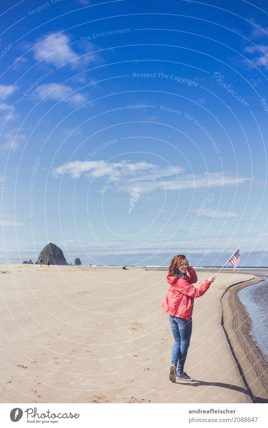 Road Trip // West Coast USA, Oregon Mensch Ferien & Urlaub & Reisen Jugendliche Sommer Meer Freude Ferne Strand 18-30 Jahre Erwachsene Küste feminin Glück