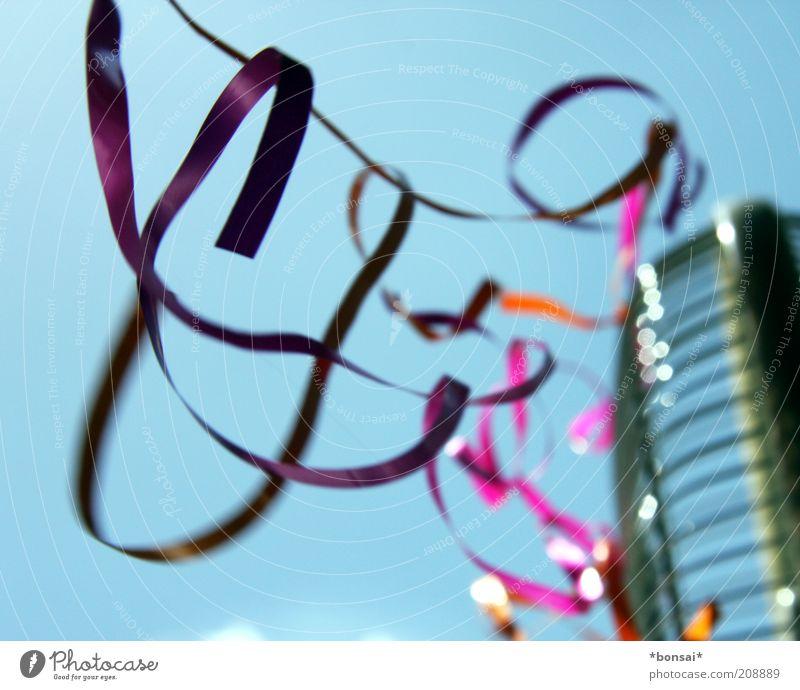 pimp my fan Ventilator Dekoration & Verzierung Schleife Kitsch Krimskrams Schnur Bewegung fliegen dünn frei blau violett Idee Leichtigkeit flattern Geschenkband