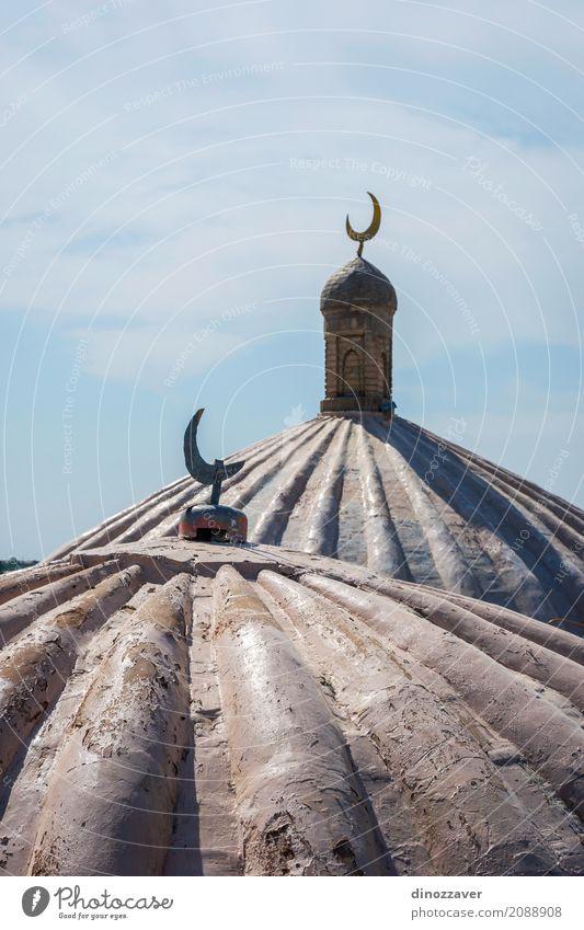 Crescent Moon auf der Moschee, Samarkand, Usbekistan Ferien & Urlaub & Reisen Kultur Himmel Mond Gebäude Architektur alt Religion & Glaube Tradition