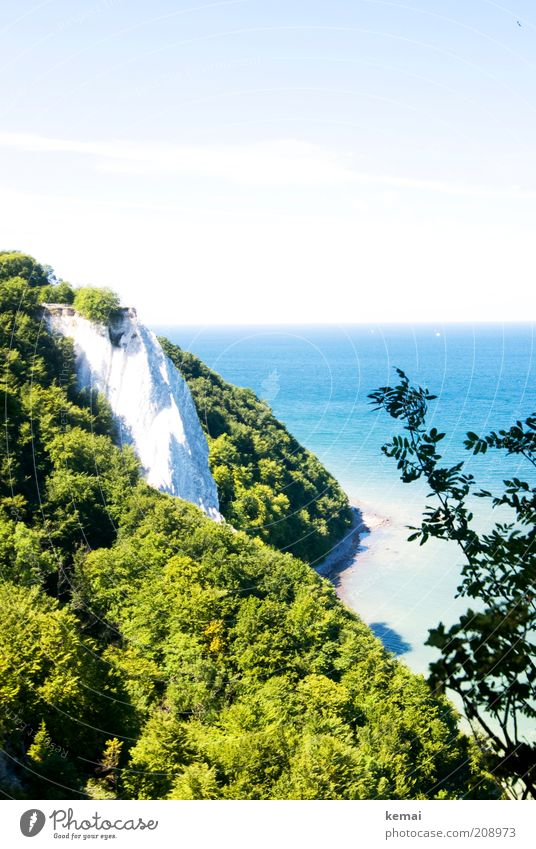 Königstuhl Natur Wasser Himmel weiß Baum Sonne grün Pflanze Sommer Wärme Landschaft hell Küste Umwelt Felsen Insel