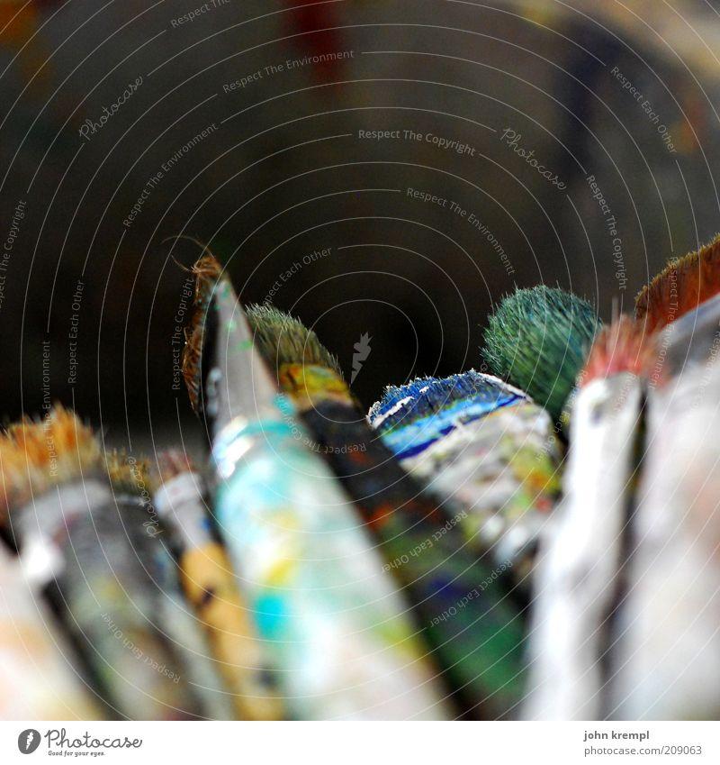 haarige sache Kunst Kultur Subkultur Farbstoff Pinsel schön trashig Inspiration Stil alt Farbfoto Textfreiraum oben Schwache Tiefenschärfe mehrfarbig
