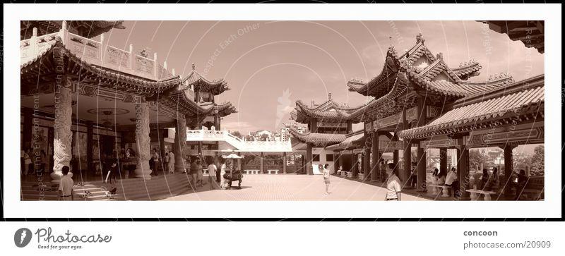 Tian Hou Sepia Genauigkeit Tempel Buddha Chinesisch Buddhismus Los Angeles