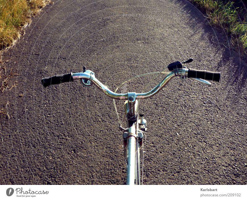 herr hoffmann. Natur Sommer Freude Ferien & Urlaub & Reisen Straße Freiheit Gras grau Wege & Pfade Fahrrad Freizeit & Hobby Ausflug Verkehr Lifestyle Asphalt