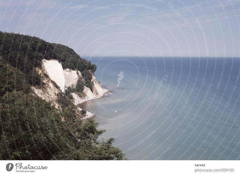 Erosion Natur Wasser schön Meer blau ruhig Ferne Wald Landschaft Küste Umwelt ästhetisch Zukunft Insel Aussicht Wandel & Veränderung