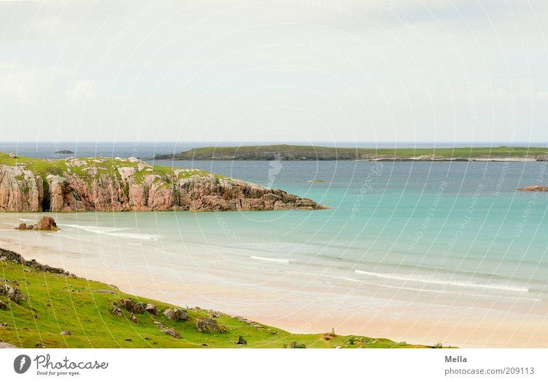 Karibische Zustände Natur Wasser schön Himmel Meer Strand Ferien & Urlaub & Reisen ruhig Einsamkeit Ferne Erholung Wiese Freiheit Stein Sand Landschaft