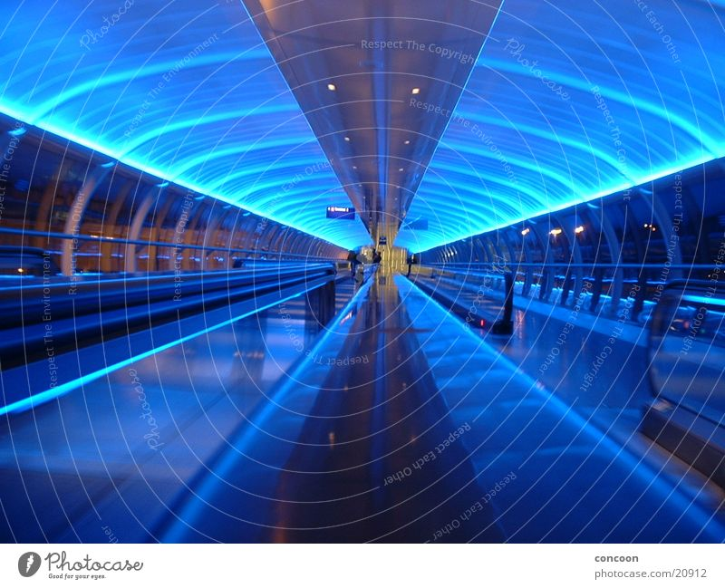 minutes in manchester Manchester England Rolltreppe Europa manchester airport stylish blue blaues licht