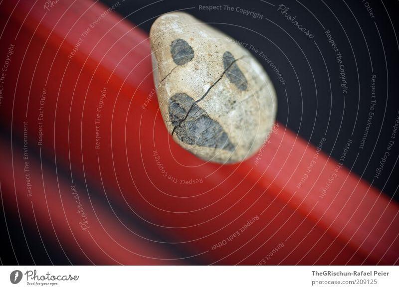 Mr. SAD-Face Natur rot schwarz grau Stein braun Umwelt ästhetisch fantastisch gebrochen Riss Detailaufnahme