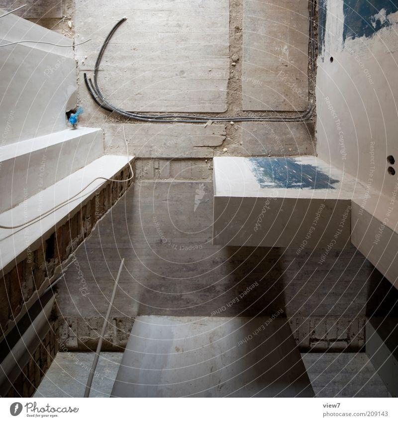 Sichtweise alt Haus kalt Wand Holz Stein Mauer Raum Metall dreckig Beton Perspektive trist einfach Baustelle Innenarchitektur