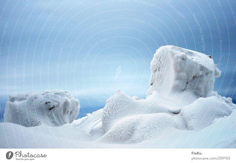 Im Land der Eiswürfel Natur Himmel weiß blau Winter Wolken kalt Schnee Landschaft Eis Umwelt ästhetisch Frost Klima gefroren Schneelandschaft