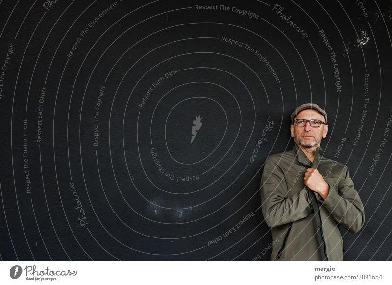 AST 10 |Pessimist Mensch maskulin Mann Erwachsene Mütze grau Gefühle Angst Entsetzen gefährlich Ärger Konzentration Schmerz Schwäche Sorge Trauer dunkel