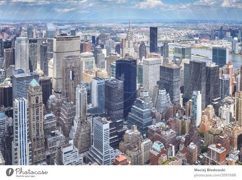 Manhattan Sommer Wohnung Büro Stadt Stadtzentrum Skyline Hochhaus Bankgebäude Gebäude Architektur Ferien & Urlaub & Reisen modern Business kaufen New York State