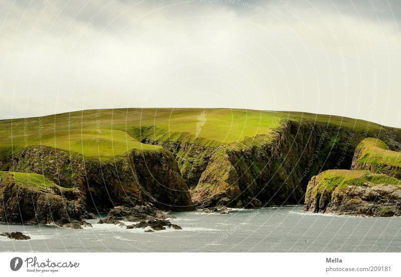 Green and Grey II Himmel Natur Wasser grün Ferien & Urlaub & Reisen Meer Einsamkeit Ferne Freiheit Gefühle Landschaft Umwelt grau Küste Stimmung Erde