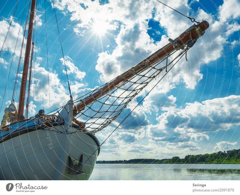 Ahoi.... Erholung Ferien & Urlaub & Reisen Tourismus Ausflug Abenteuer Ferne Kreuzfahrt Sommer Sommerurlaub Sonne Strand Meer Wellen fahren Segeln Segelboot