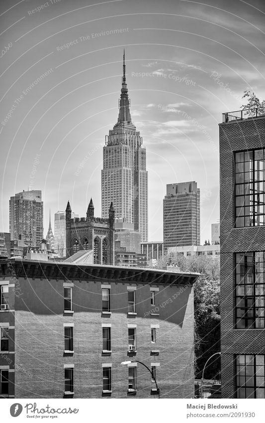 New York City Skyline. Stadt Architektur Gebäude Wohnung Büro modern Hochhaus USA Symbole & Metaphern Stadtzentrum Top Manhattan Großstadt Empire State Building