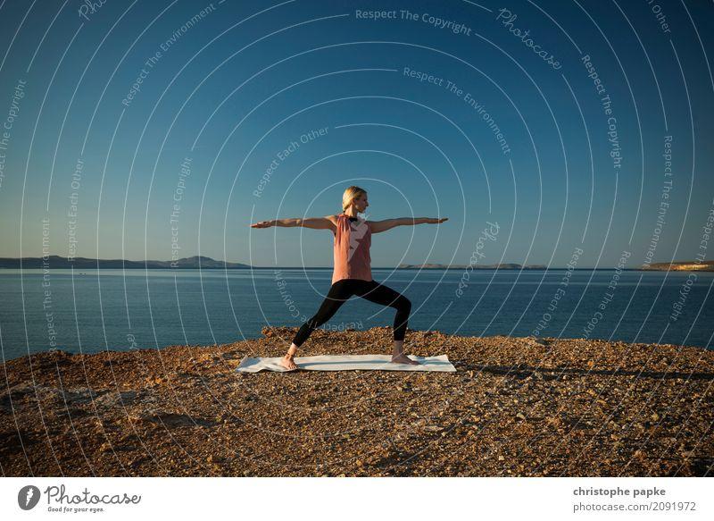 krieger Lifestyle harmonisch Wohlgefühl Zufriedenheit Sinnesorgane Erholung ruhig Meditation Freizeit & Hobby Sommer Sommerurlaub Strand Meer Wellen Sport