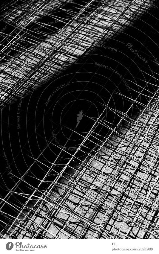 zaun dunkel hell Metall Baustelle Platzangst Zaun eckig komplex Metallzaun Bauzaun