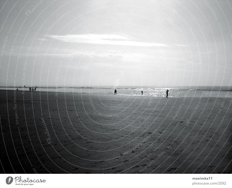 Nordsee, am Strand Mensch