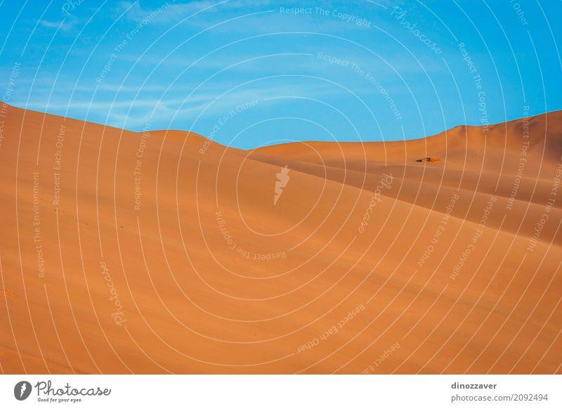 Sanddünen in der Gobi-Wüste, China Ferien & Urlaub & Reisen Tourismus Ausflug Abenteuer Safari Sommer Sonne Strand Berge u. Gebirge Natur Landschaft Himmel