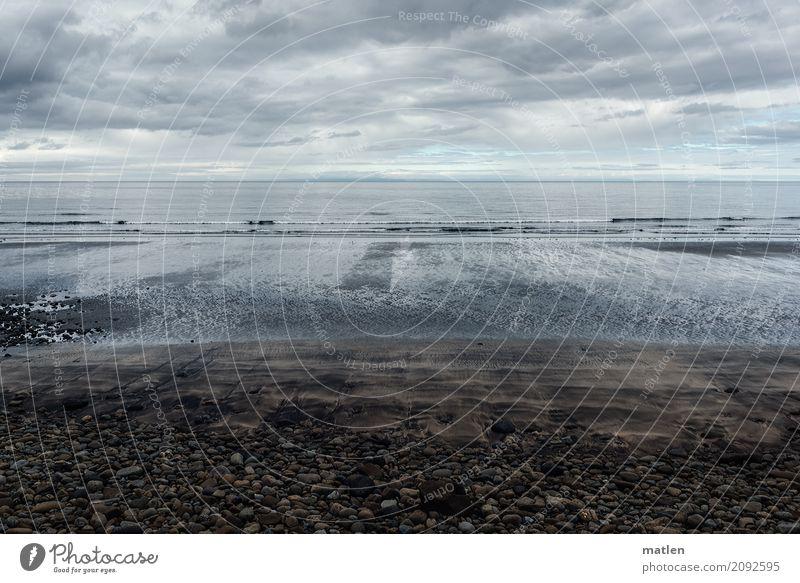 seaward Natur Landschaft Sand Luft Wasser Himmel Wolken Horizont Frühling Wetter schlechtes Wetter Wind Küste Strand Fjord Meer dunkel kalt blau braun grau weiß
