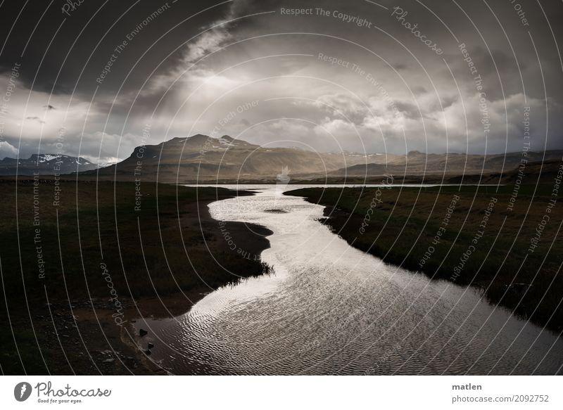 Hades Umwelt Landschaft Urelemente Himmel Gewitterwolken Horizont Frühling Schönes Wetter schlechtes Wetter Wind Regen Schnee Gras Berge u. Gebirge